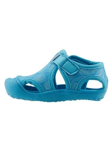 Ayakland Ayakland Kids Desenli Aqua Kız/Erkek Çocuk  Sandalet Panduf Ayakkabı Turkuaz